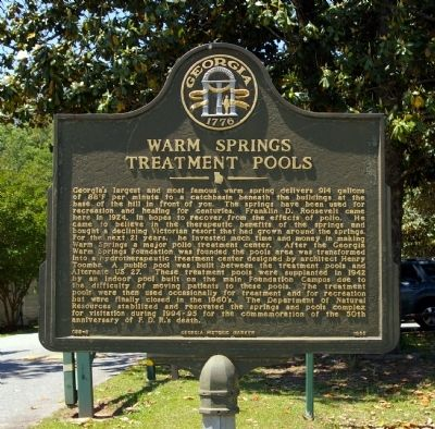 Warm Springs Treatment Pools Marker Photo, Click for full size