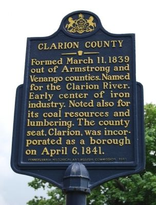 Clarion County Marker image. Click for full size.
