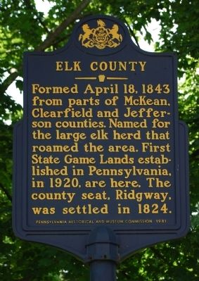 Elk County Marker image. Click for full size.