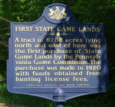 First State Game Lands Marker image. Click for full size.