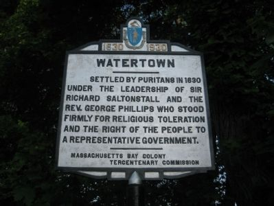 Watertown Marker - North Face image. Click for full size.