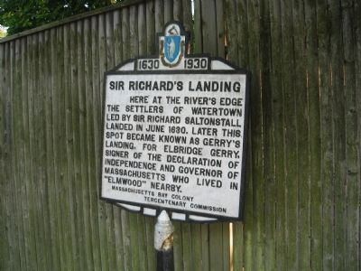 Sir Richard's Landing Marker - North face image. Click for full size.