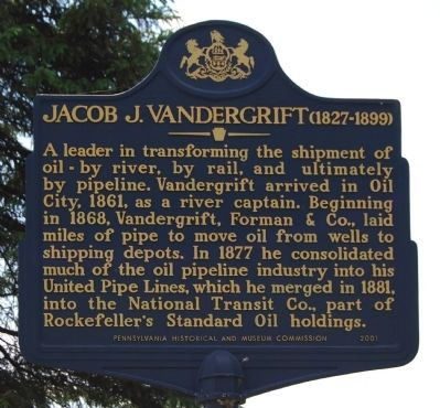 Jacob J. Vandergrift Marker image. Click for full size.