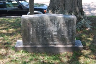 Edward Moseley & Mildred Bates Gwathmey Tombstone image. Click for full size.