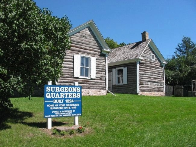 Fort Winnebago Surgeons' Quarters Marker Photo, Click for full size