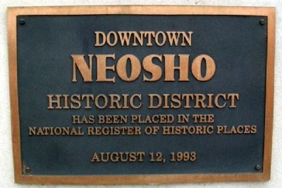 Downtown Neosho Historic District Marker image. Click for full size.