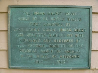 The Indian Agency House Marker image. Click for full size.