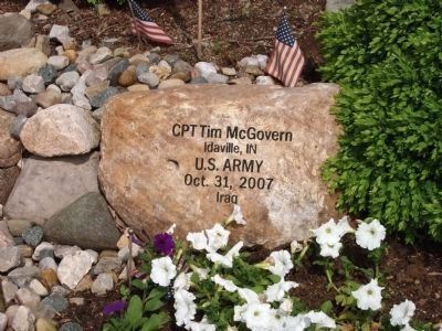 Right Engraved Rock - - War on Terrorism Memorial Garden Marker image. Click for full size.