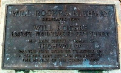 Will Rogers Highway Marker image. Click for full size.