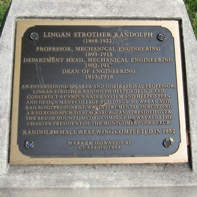 Lingan Strother Randolph Marker image. Click for full size.