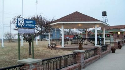 Galena Chamber Marker at Litch Park image. Click for full size.