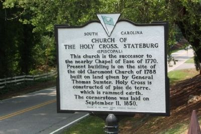 Church of the Holy Cross Stateburg Marker image. Click for full size.