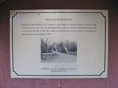 Bear Den Road Bridge Marker image. Click for full size.