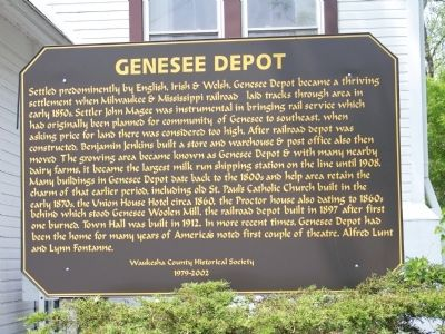 Genesee Depot Marker Photo, Click for full size