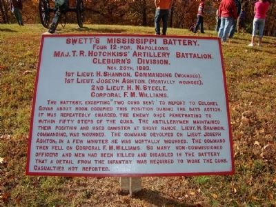 Battle of Missionary Ridge Marker image. Click for full size.