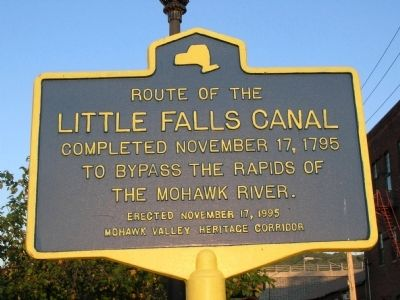 Little Falls Canal Marker image. Click for full size.