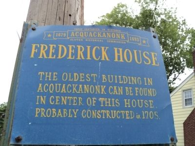 Frederick House Marker image. Click for full size.