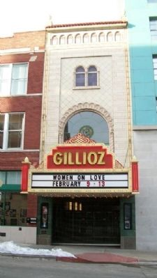 Gillioz Theater and Marker image. Click for full size.