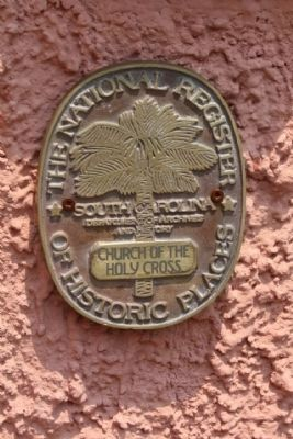 Church of the Holy Cross, National Register of Historic Places Medallion image. Click for full size.