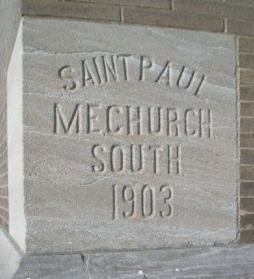 St. Paul United Methodist Church Cornerstone image. Click for full size.