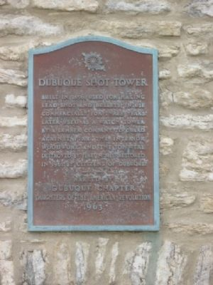 Dubuque Shot Tower Marker image. Click for full size.