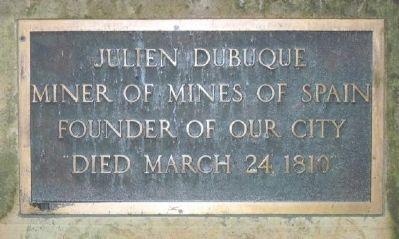 Julien Dubuque Marker image. Click for full size.