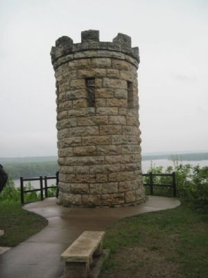 Julien Dubuque Gravesite Tower image. Click for full size.