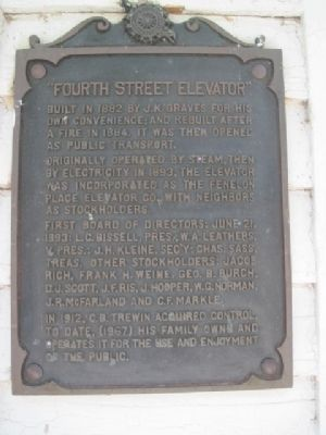 Fourth Street Elevator Marker image. Click for full size.
