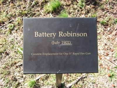 Battery Robinson Sign image. Click for full size.