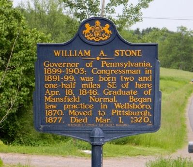 William A. Stone Marker image. Click for full size.