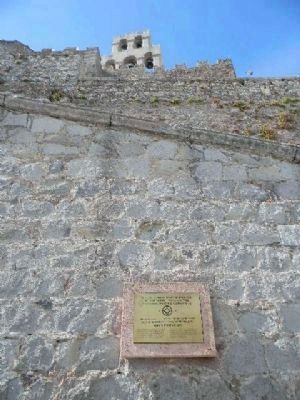 Historic Centre (Chorá) Marker at the Monastery of Saint John the Theologian image. Click for full size.