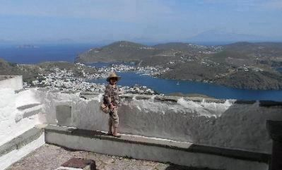Patmos Harbor, viewed from atop the Monastery of Saint John the Theologian image. Click for full size.