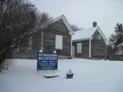 Surgeons' Quarters in Winter Photo, Click for full size