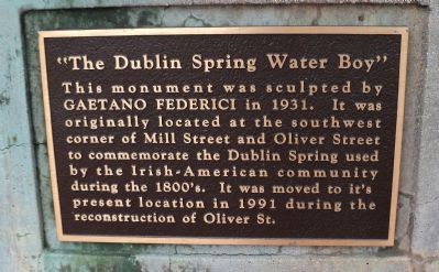 """The Dublin Spring Water Boy"" Marker image. Click for full size."