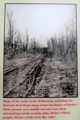 Typical condition of the roads in the Wilderness Photo, Click for full size