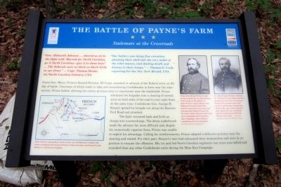 The Battle of Payne�s Farm CWT Marker image. Click for full size.