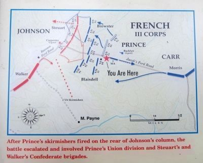 The Battle of Payne�s Farm initial troop deployment image. Click for full size.