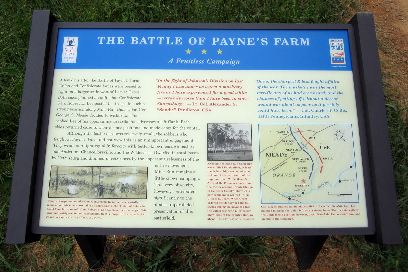 The Battle of Payne's Farm CWT Marker