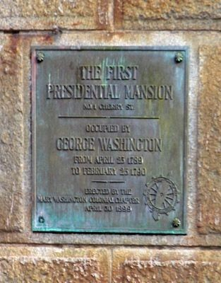 First Presidential Mansion Marker image. Click for full size.