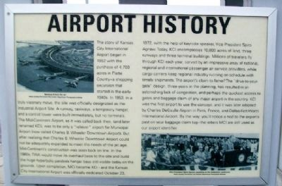 Kansas City International Airport Marker image. Click for full size.
