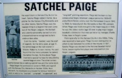 Satchel Paige Marker image. Click for full size.