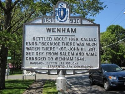 Wenham(Town Hall) Marker image. Click for full size.