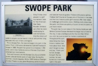 Swope Park Marker Photo, Click for full size