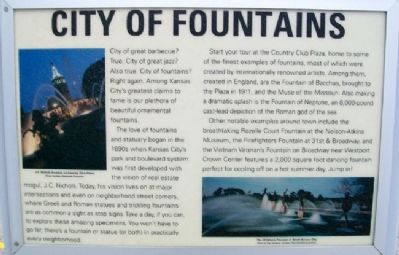 City of Fountains Marker image. Click for full size.