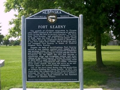 Fort Kearny Marker Photo, Click for full size