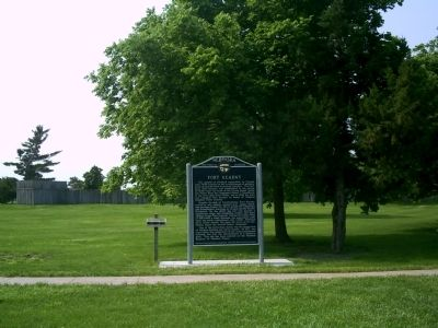 Fort Kearny Marker Near Replica Photo, Click for full size