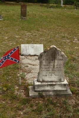 Graniteville Cemetery Confederate Soldier image. Click for full size.