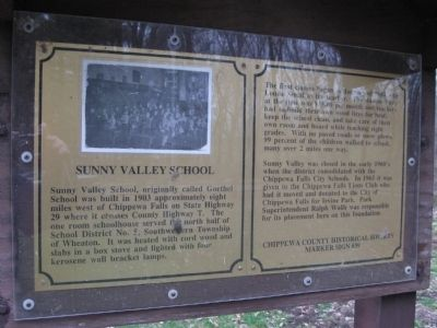 Sunny Valley School Marker image. Click for full size.