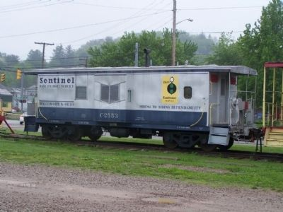 Hocking Valley Railway , nearby B&O Caboose image. Click for full size.