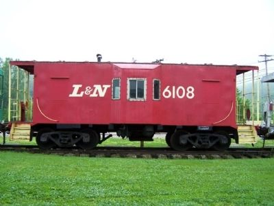 Hocking Valley Railway Louisville & Nashville Caboose on display image. Click for full size.